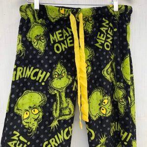 Dr Seuss Mean one Mr Grinch fleece pajamas pants